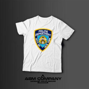 Мужская футболка с принтом POLICE NEW YORK
