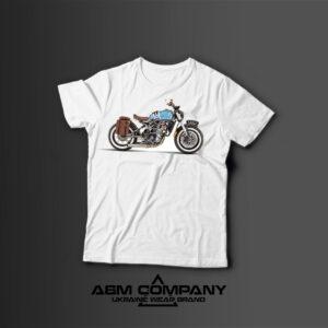 Мужская футболка с принтом MOTORBIKE