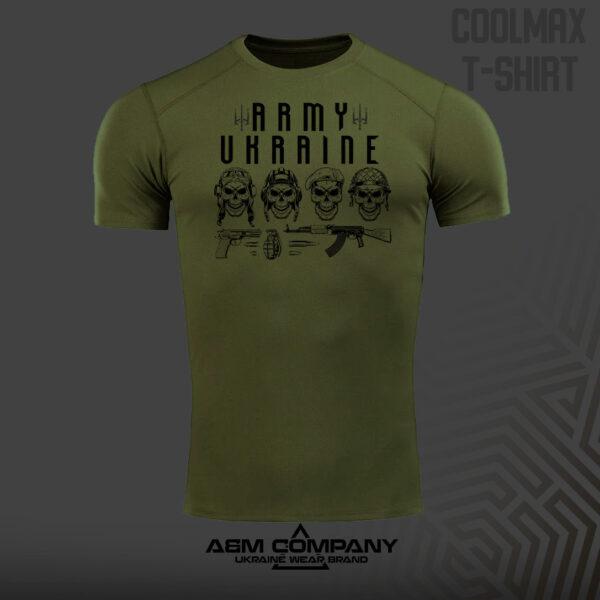 Футболка CoolMax ARMY UKRAINE цвет олива