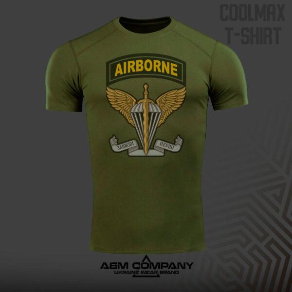 Футболка CoolMax AIRBORN UKRAINE цвет олива