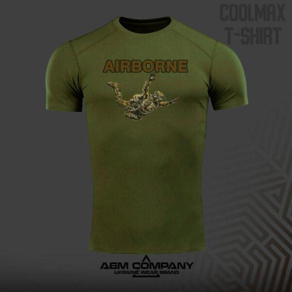 Футболка CoolMax AIRBORNES цвет олива
