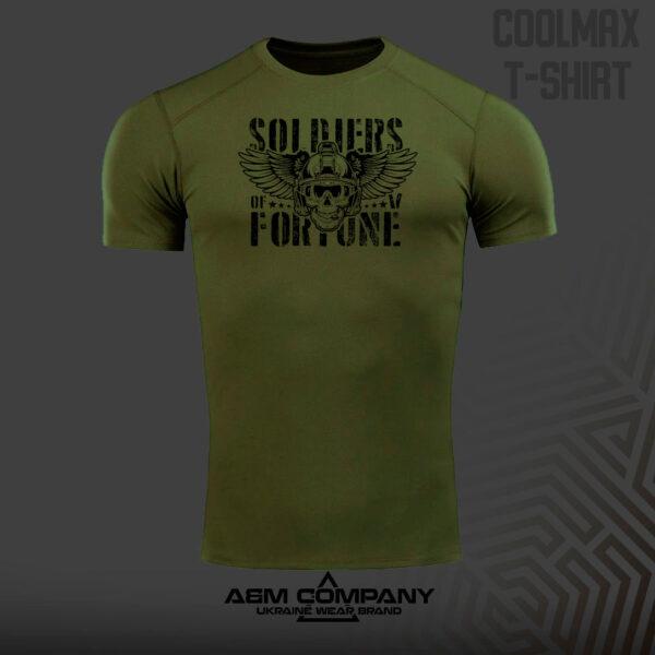 Футболка CoolMax SOLDIERS FORTUNE цвет олива