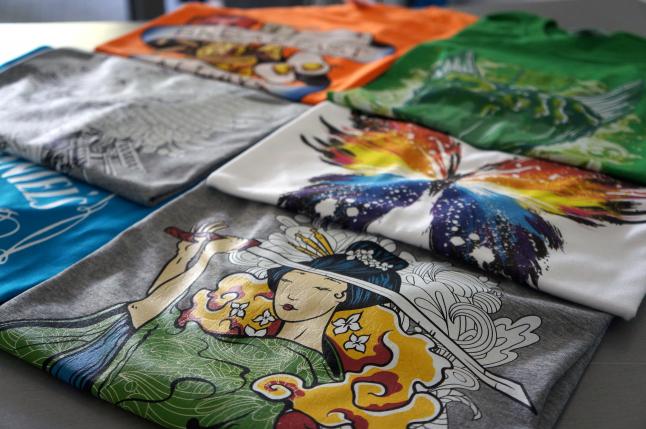 Печать на футболках и ее виды.