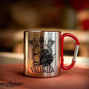 Железная кружка с карабином VALHALLA VIKINGЖелезная кружка с карабином VALHALLA
