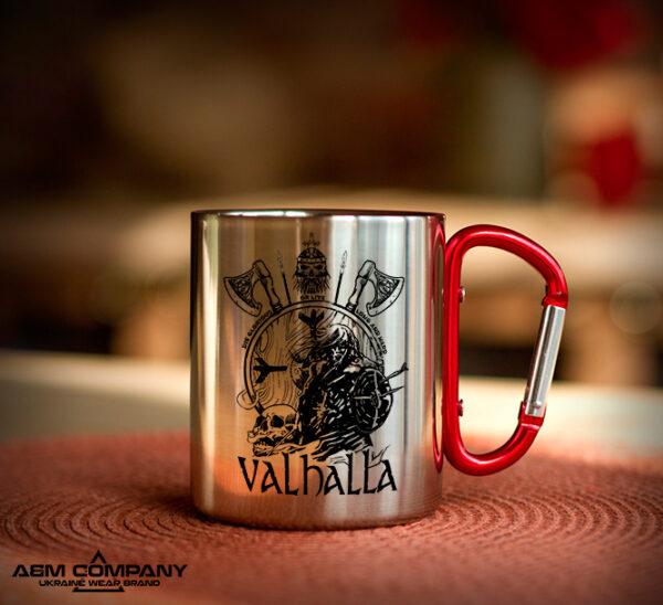Железная кружка с карабином VALHALLA