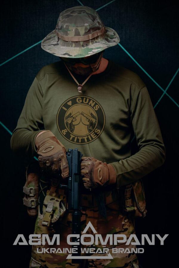 Реглан COOLMAX I LOVE GUNS TITTIES